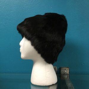 Isabel Marant black fur cap beanie
